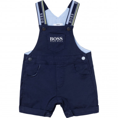 Cotton twill dungarees BOSS for BOY