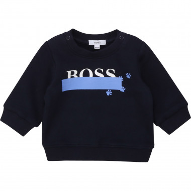 Brushed fleece sweatshirt BOSS for BOY