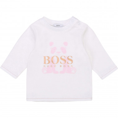 Cotton jersey long-sleeved top BOSS for GIRL