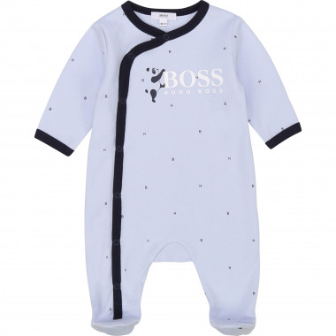 Interlock cotton sleepsuit BOSS for BOY