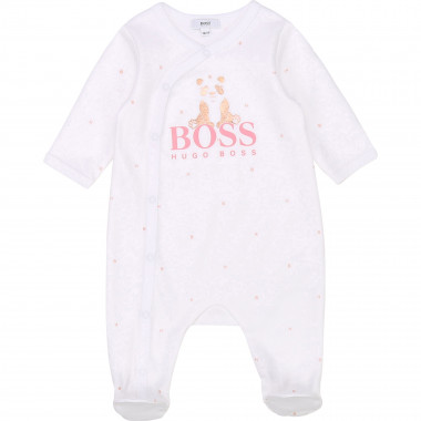 Interlock cotton sleepsuit BOSS for GIRL