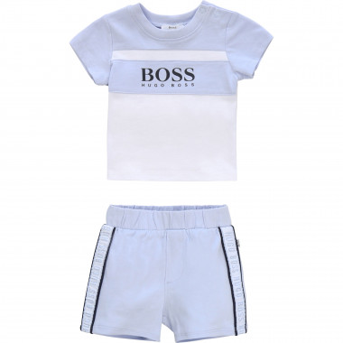 Cotton T-shirt and shorts set BOSS for BOY