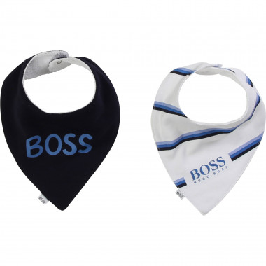 Pack of 2 cotton bibs BOSS for BOY
