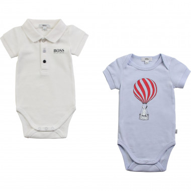 Pack of 2 cotton onesies BOSS for BOY