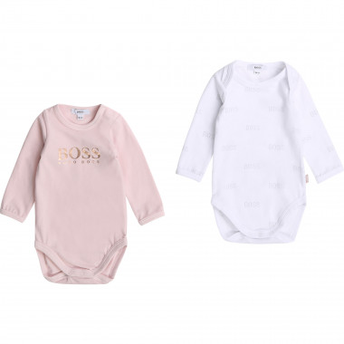 Set of 2 cotton jersey onesies BOSS for UNISEX