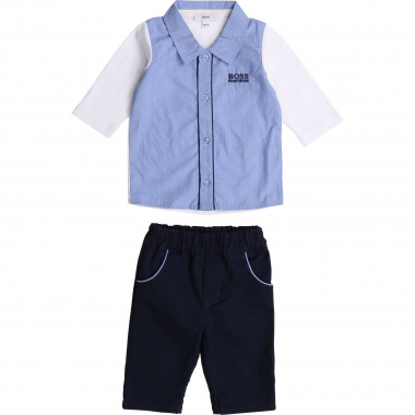 Cotton shirt and trousers BOSS for BOY