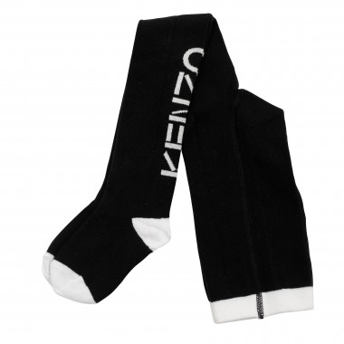 Tricot tights with logo KENZO KIDS for GIRL