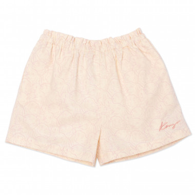 Cotton and linen shorts KENZO KIDS for GIRL