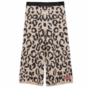 Wool-blend knitted trousers KENZO KIDS for GIRL