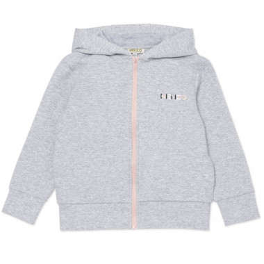 Zipped hooded sweatshirt KENZO KIDS for GIRL