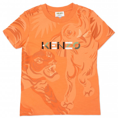 Cotton T-shirt with print KENZO KIDS for BOY