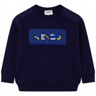 Loose-fit quilted sweatshirt KENZO KIDS for BOY