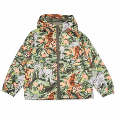 Zipped hooded windbreaker KENZO KIDS for BOY