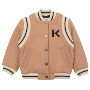 Embroidered wool varsity jacket KENZO KIDS for BOY