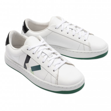 Lace-up leather trainers KENZO KIDS for BOY