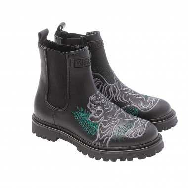 Embroidered Napa leather boots KENZO KIDS for BOY