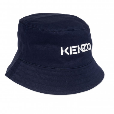 Cotton sun hat with logo KENZO KIDS for UNISEX