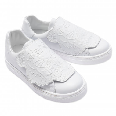 Low-top leather trainers KENZO KIDS for UNISEX