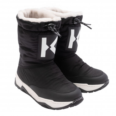 Fur boots with drawstring KENZO KIDS for UNISEX