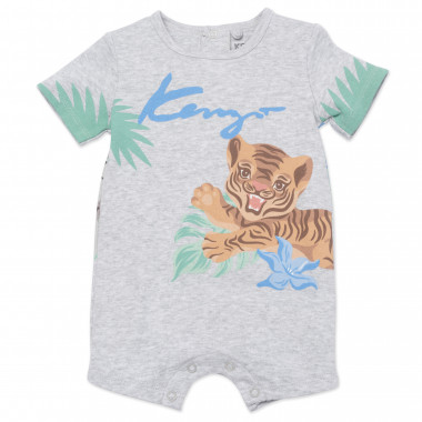 Jungle print short leg romper KENZO KIDS for BOY