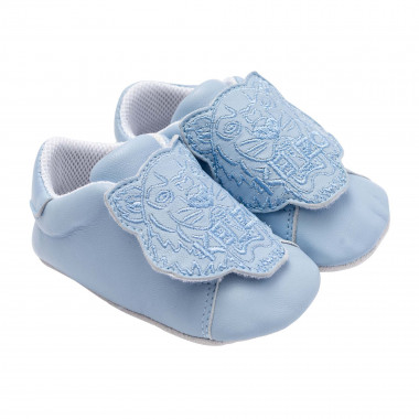 Embroidered leather slippers KENZO KIDS for BOY
