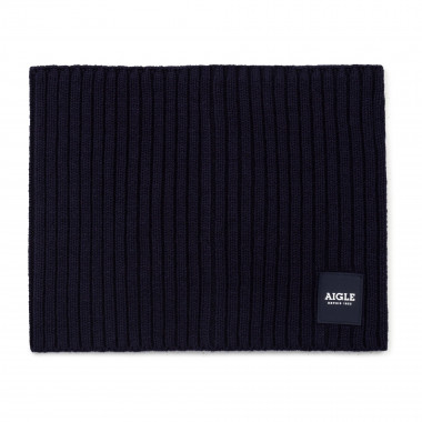 Cotton and wool snood AIGLE for UNISEX