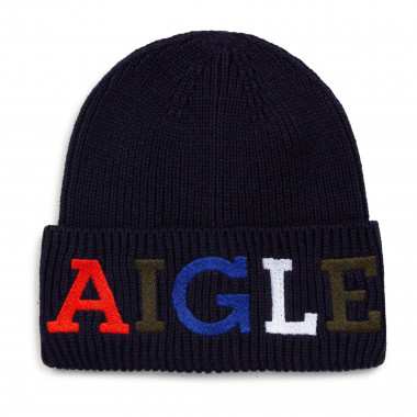 Organic cotton and wool hat AIGLE for UNISEX