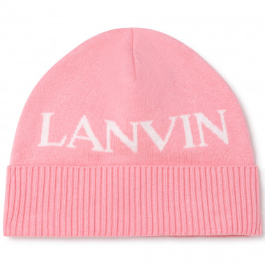 Cotton tricot and wool hat LANVIN for GIRL