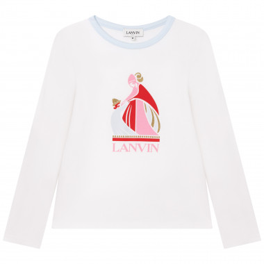 Cotton and modal jersey T-shirt LANVIN for GIRL
