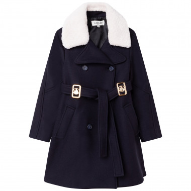 Wool cloth coat LANVIN for GIRL