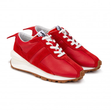 Low-top lace-up leather trainers LANVIN for GIRL
