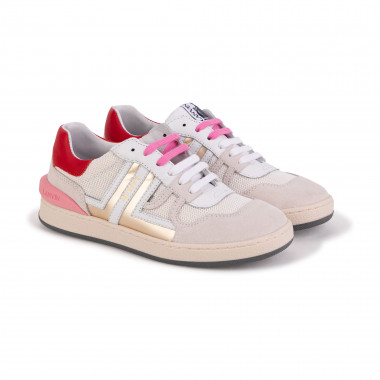 Dual-material lace-up trainers LANVIN for GIRL