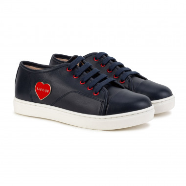 Lace-up leather trainers LANVIN for GIRL