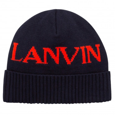 Knitted cotton and wool cap LANVIN for BOY