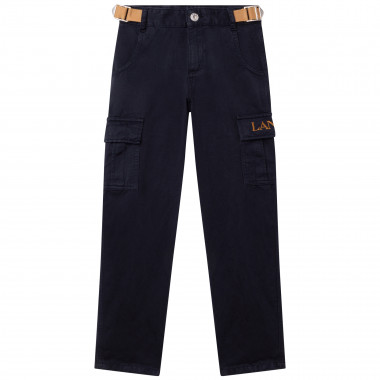 Cotton and linen trousers LANVIN for BOY
