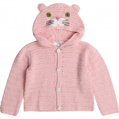 Novelty knit cardigan CHARABIA for GIRL