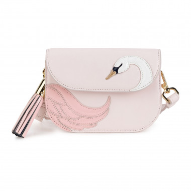 Clutch with swan appliqués CHARABIA for GIRL