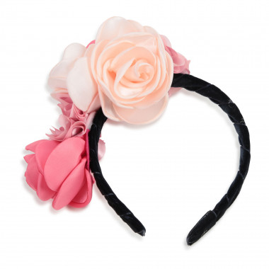 Satin headband with flowers CHARABIA for GIRL