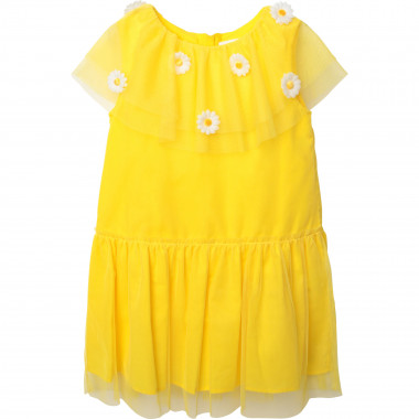 Sleeveless dress with frill CHARABIA for GIRL