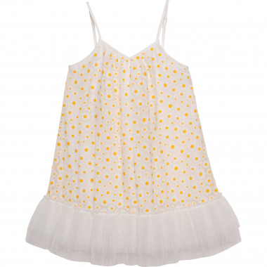Strappy dress with frill CHARABIA for GIRL