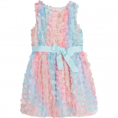 Tulle dress with flowers CHARABIA for GIRL