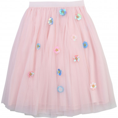 Floral tulle maxi skirt CHARABIA for GIRL