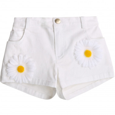 Denim shorts with flowers CHARABIA for GIRL
