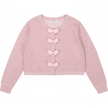 Cotton and Lurex cardigan CHARABIA for GIRL