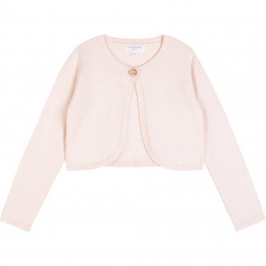 Flower button tricot cardigan CHARABIA for GIRL