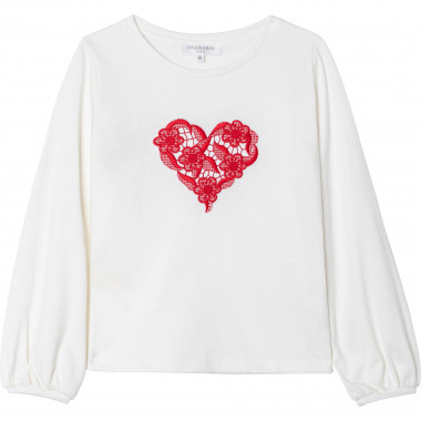 Modal and cotton embroidered T-shirt CHARABIA for GIRL