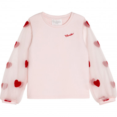 Tulle sleeve T-shirt CHARABIA for GIRL