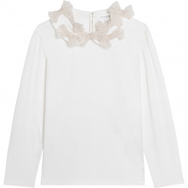 T-shirt with bows on collar CHARABIA for GIRL