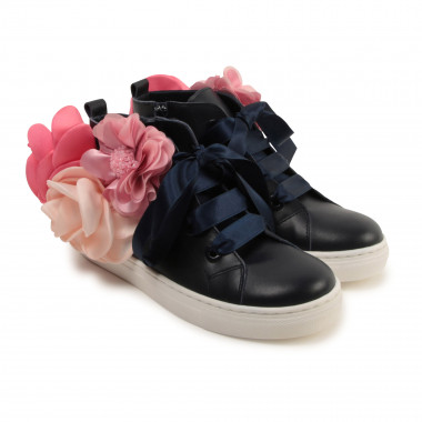 High-top leather trainers CHARABIA for GIRL
