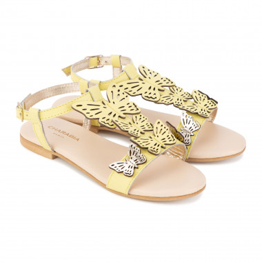 Strappy leather sandals CHARABIA for GIRL